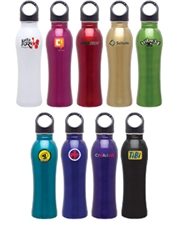 h2go 24 oz. Venus Stainless Steel Water Bottle with Carabiner Lid