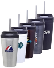 Spirit 16 oz. Stainless Steel Tumbler with Plastic Liner