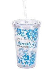 Altinda 16 oz. Double-Walled Acrylic Tumbler with Plastic Logo Insert