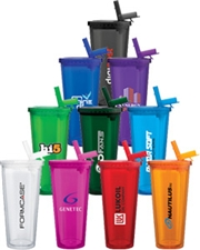 Spirit Sport 20 oz. Acrylic Tumbler with Flip-Up Straw