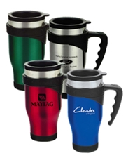 Symphony 16 oz. Stainless Steel Travel Mug with Handle