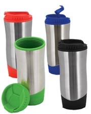 Wavelength 16 oz. Stainless Steel Travel Mug with Plastic Liner