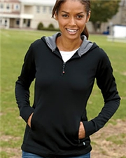 Russell FS8EFX Athletic Ladies' Tech Fleece Quarter-Zip Pullover Hood