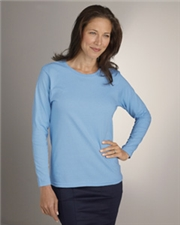 2400L Gildan Ladies' 6.1 oz. Ultra Cotton® Long-Sleeve T-Shirt