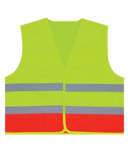Kids Lime/Orange V-Neck Vest