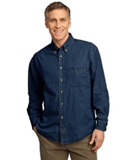 Port & Company® - Long Sleeve Value Denim Shirt.