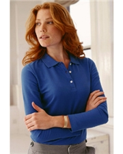 Devon & Jones Classic Ladies' Pima Piqué Long-Sleeve Polo