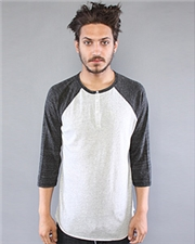 Alternative 3/4 Sleeve Raglan Henley