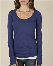 Alternative Ladies' Rib-Sleeve Scoop-Neck T-Shirt