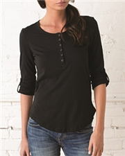 Alternative Ladies' Rolled-Sleeve Henley