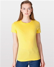 2102 American Apparel Ladies Fine Jersey Short SleeveTee