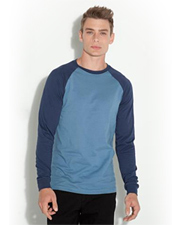 Canvas Men's Jersey Long-Sleeve Baseball T-Shirt