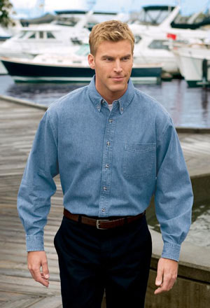 Mens Long Sleeve Value Denim Shirt.
