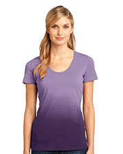 District Made Ladies Dip Dye Rounded Deep V-Neck Tee