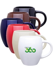 Barrel 16 oz. Glossy Ceramic Mug