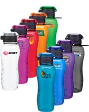 h2go bfree Zuma 24 oz. Copolyester Dimple Grip Bottle with Flip-Lid