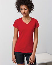 Gildan Ladies Junior Fit Softstyle V-Neck T-Shirt