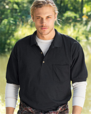 Gildan 5.6 oz 50/50 Jersey Polo with Pocket
