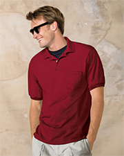Stedman by Hanes 50/50 Jersey Knit Polo with Pocket