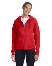 Hanes Ladies' 8 oz., 80/20 Fleece Full-Zip Hoodie