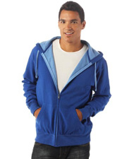 Independent Two-Color Deluxe Fleece Zip Hood