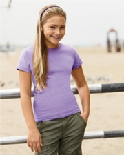 Girls' Fine Jersey Longer Length T-Shirt