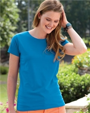 Ladies' Fine Jersey Longer Length T-Shirt