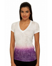 Next Level Ladies' Ombre Burnout Deep V