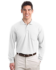 Port Authority Tall Silk Touch Long Sleeve Polo with Pocket