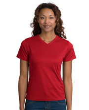 Sport-Tek  Dri-Mesh Ladies Crossover V-Neck T-Shirt