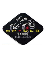 Silver Spyder Mileage Patches
