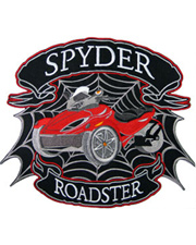 Red Spyder Roadster Full Size Patch