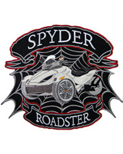 Silver Spyder Roadster Full Size Patch
