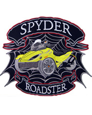 Yellow Spyder Roadster Full Size Patch