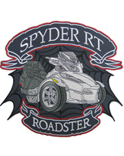 Silver Spyder RT Full Size Patch