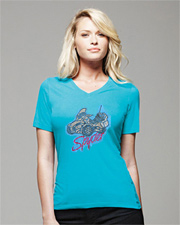 Spyder Bling Missy Short Sleeve Jersey V-Neck T-Shirt