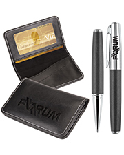 Victory Gift Set Business Card Case & Rollerball