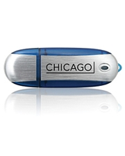 Chicago Plastic and Metal Shell USB Flash Drive