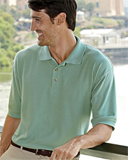 UltraClub Men's Luxury Double Pique Polo