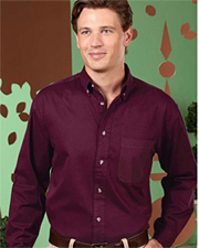 UltraClub Long-Sleeve Woven Shirt with Pocket