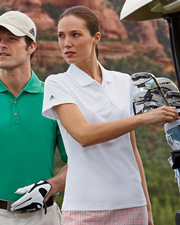 Adidas Golf Ladies' ClimaLite® Piqué Short-Sleeve Polo