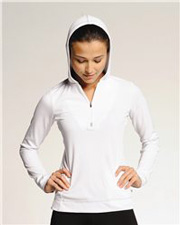 ALO Ladies' Long Sleeve ½ Zip Hooded Pullover