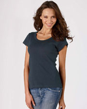 Bella Ladies Baby Rib Short Sleeve Scoop Neck Tee