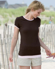 8102 Bella Women's Sheer Jersey Longer-Length 2-in-1 T-Shirt