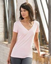 Bella Women's Cecilia Double V Sheer Jersey T-Shirt