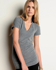 8435 Bella Ladies' 4 oz. Tri-Blend Deep V-Neck