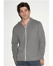 Canvas  Triblend Unisex Lightweight Hooded Full-Zip T-Shirt