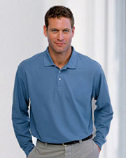 Devon & Jones Classic Men's Pima Piqué Long-Sleeve Polo