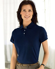 Devon & Jones Classic Ladies' Solid Perfect Pima Interlock Polo