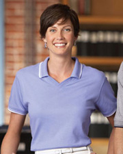 Devon & Jones Classic Ladies' Tipped Perfect Pima Interlock Polo